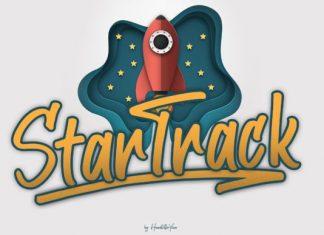 Star Track Script Font
