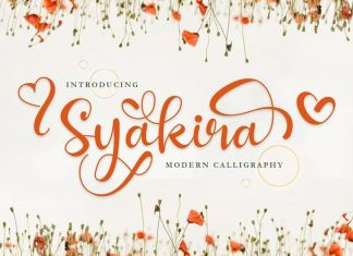 Syakira Calligraphy Font