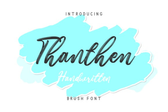 Thanthen Brush Font