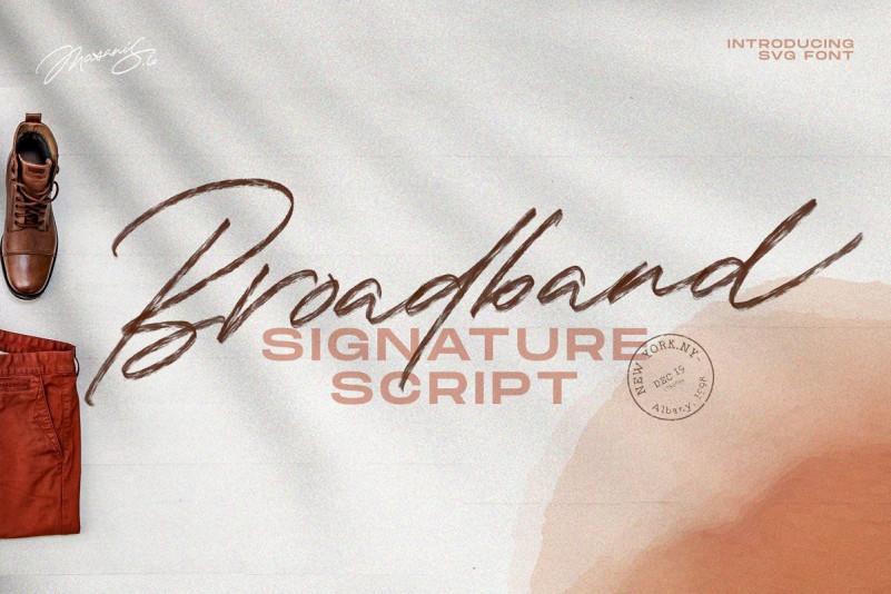 The Broadband Script Font