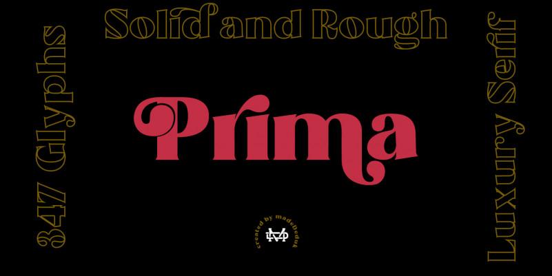 Prima - Luxury Font