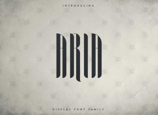 Aria Display Font Family