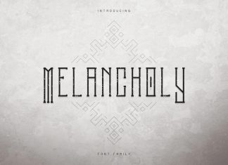 Melancholy Display Font + Extra