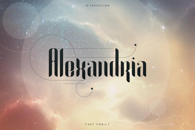 Alexandria Font Family + Bonus