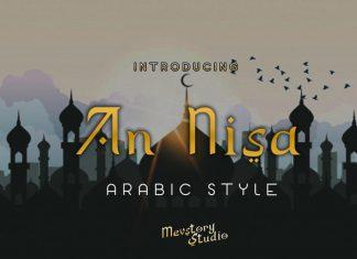 An Nisa Arabic Style Font