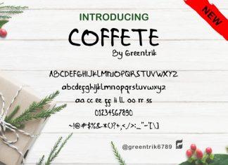 Coffete Script Font