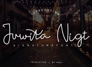 Juwita Night Handwritten Font