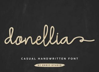 Donellia Handwriting Font