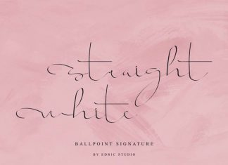 Straight white Calligraphy Font