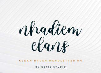 Nhadiem Elans Calligraphy Font