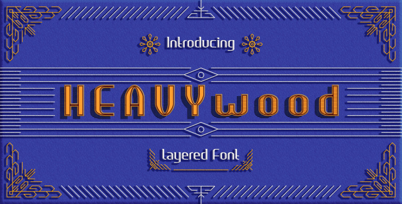 Heavywood Layered Display Font