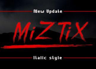 MiZTix Display Font