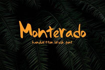 Monterado - Handwritten Brush Font
