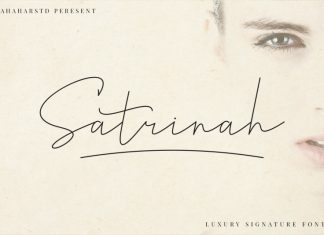 Satrinah - Signature Font