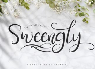 Sweengly - Sweet Script Font