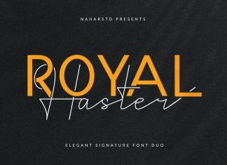 Royal Haster Font Duo
