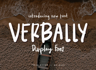 Verbally Display Font