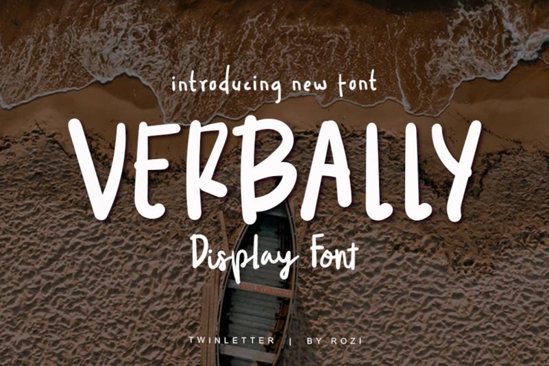 Verbally Display Font