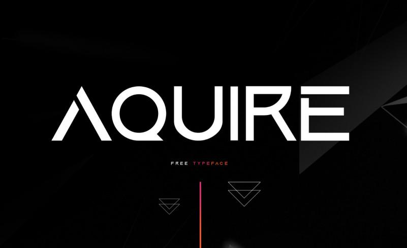 Aquire Free Font