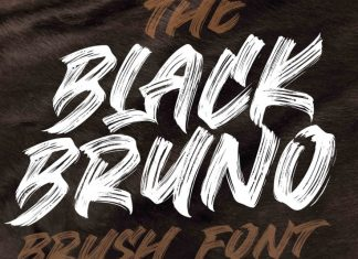 Black Bruno Brush Font