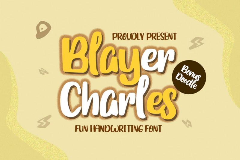 Blayer Charles - Playful Font