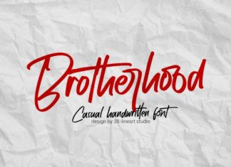 Brotherhood Handwritten Font
