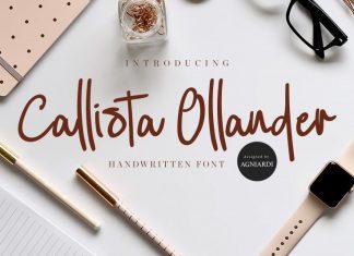 Callista Ollander Script Font