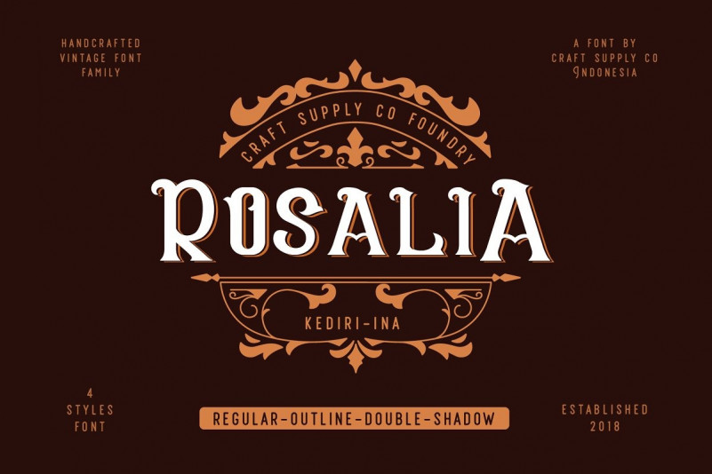 CS Rosalia Display Font