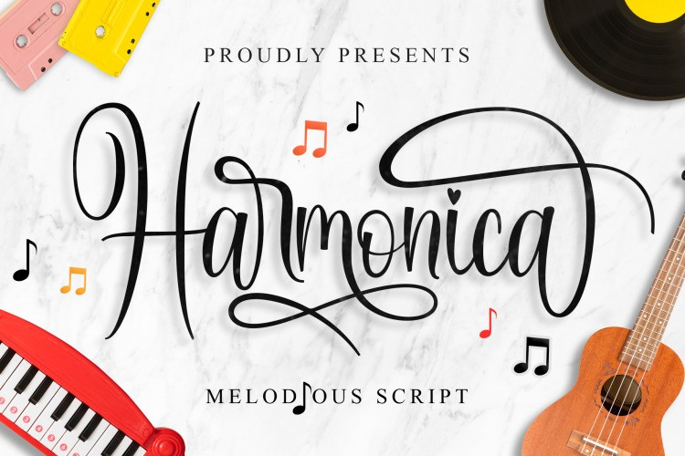 Harmonica Calligraphy Font