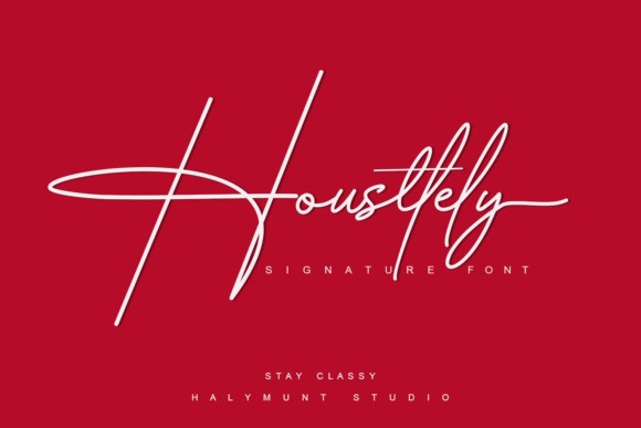 Housttely Signature Font