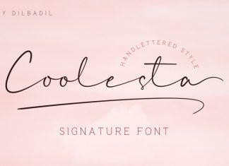 Coolesta Signature Font