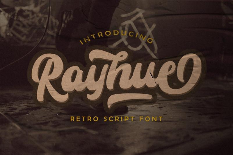 Rayhue - Retro Script Font