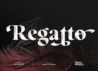 Regatto Display Font Demo