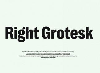 Right Grotesk Font Family
