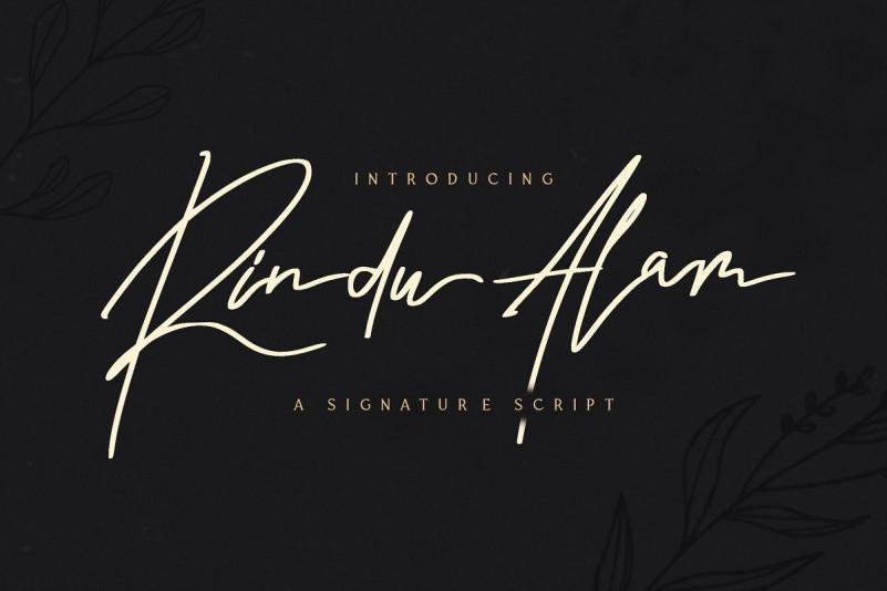 Rindu Alam Signature Font