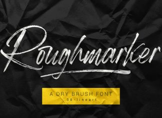 Roughmarker Brush Font