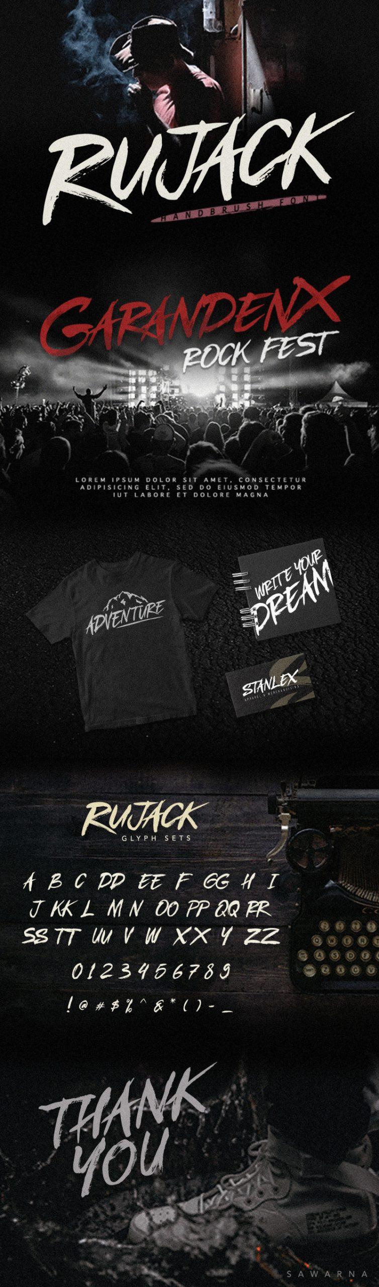 Rujack HandBrush Font