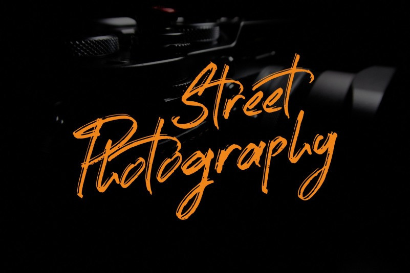 Street Photography Brush Font