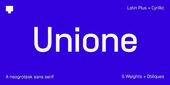 Unione Sans Font Family