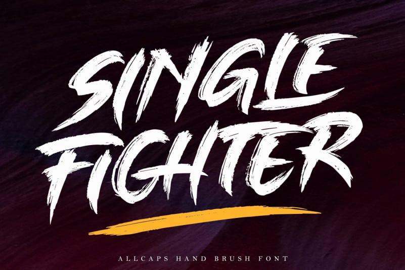 Single Fighter - Brush Font