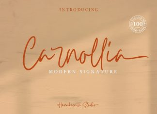 Carnollia Signature Font