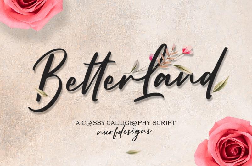 Better Land Script Font