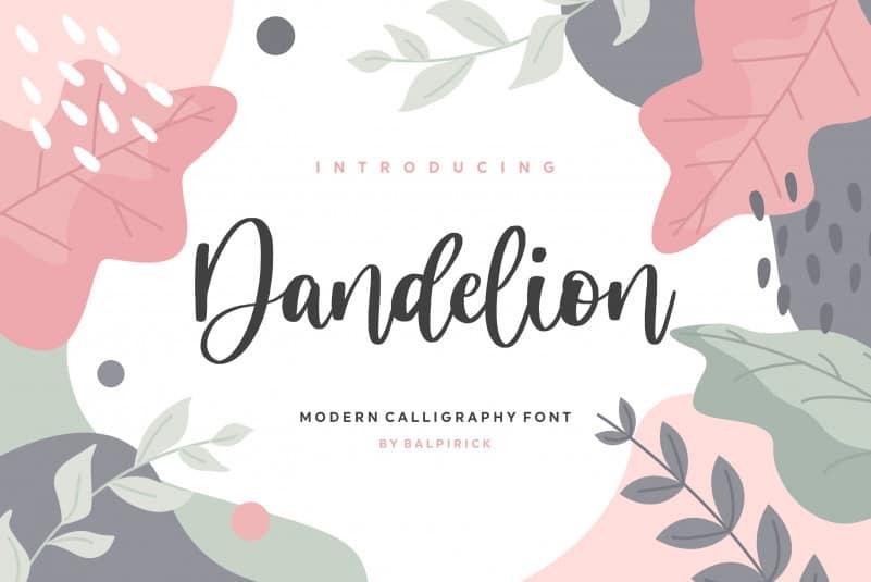 Dandelion Modern Calligraphy Font