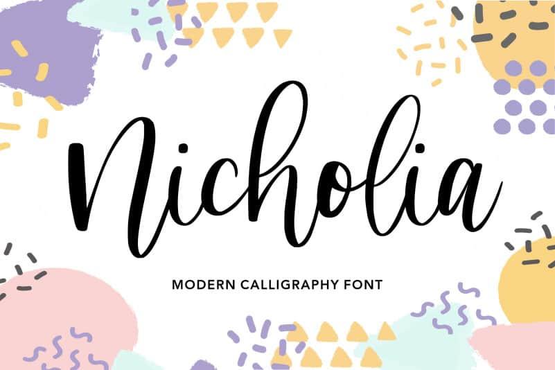 Nicholia Modern Calligraphy Font