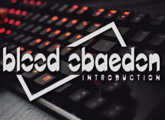 Blood Obaedon Display Font