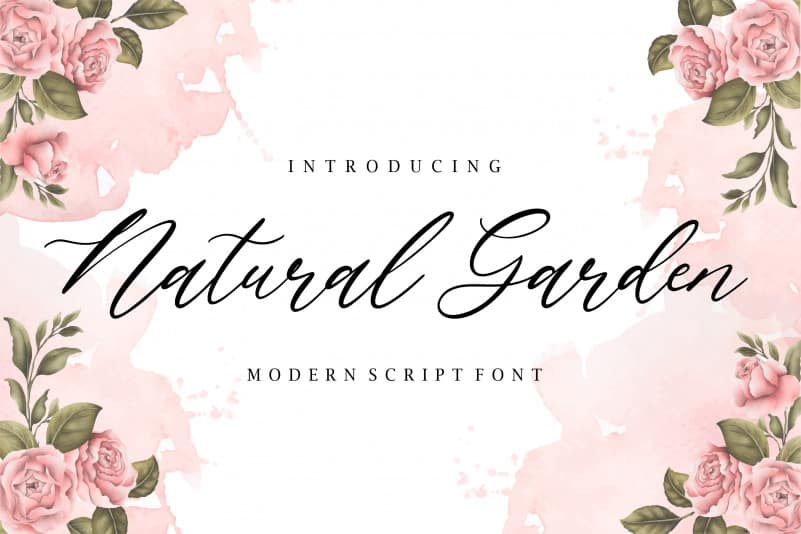 Natural Garden Script Font