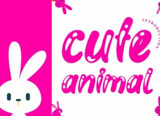Cute Animal Display Font