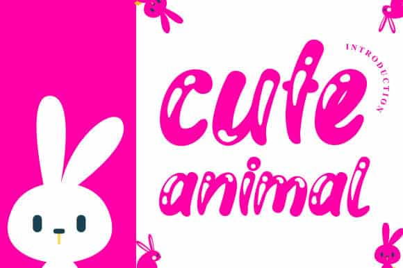 Cute Animal Display Font