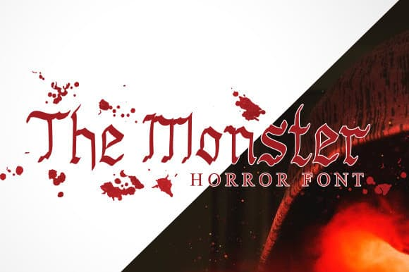 The Monster Horror Font