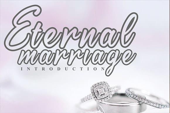 Eternal Marriage Script Font